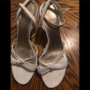 Gianni Bini white ankle straps